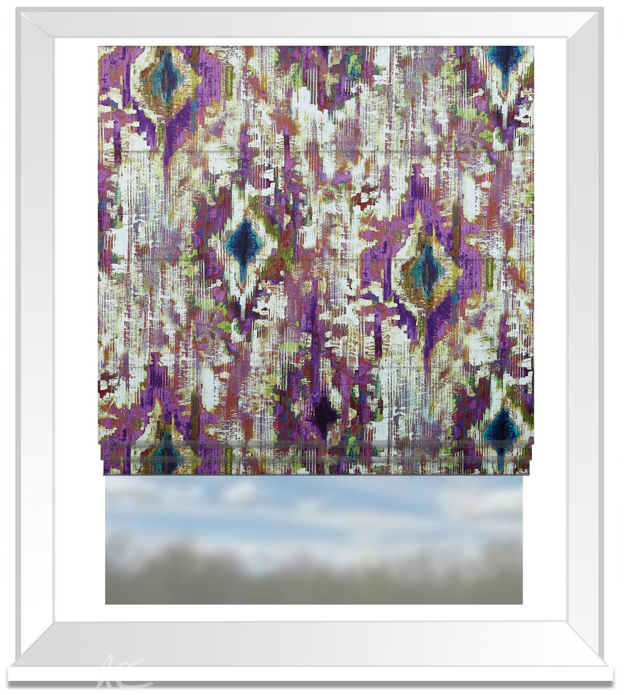 A Prestigious Textiles Decadence Bohemia Gemstone Roman Blind
