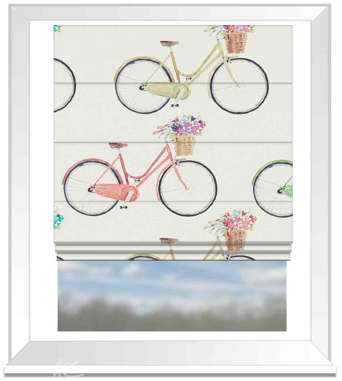 A Village Life  Cycles  Cream  Roman Blind