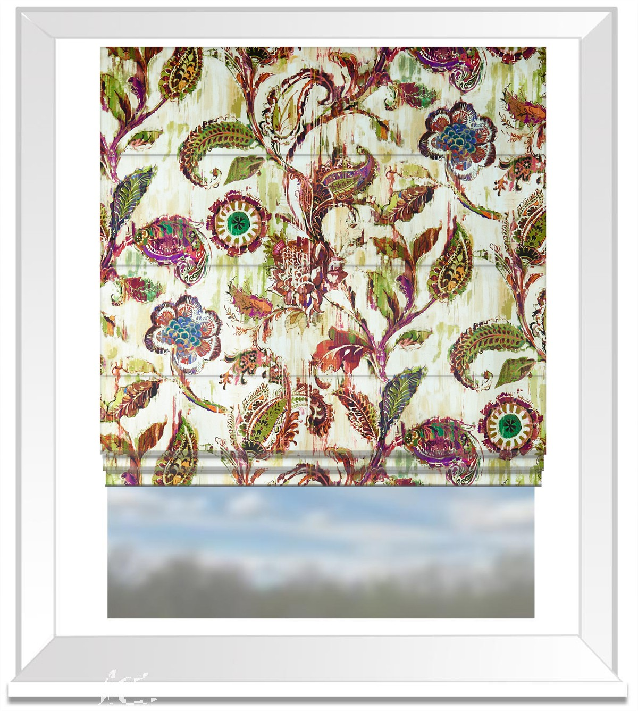 A Prestigious Textiles Decadence Grandeur Medici Roman Blind