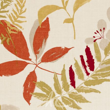 Clarke and Clarke Wild Garden Woodland Spice Made to Measure Curtains