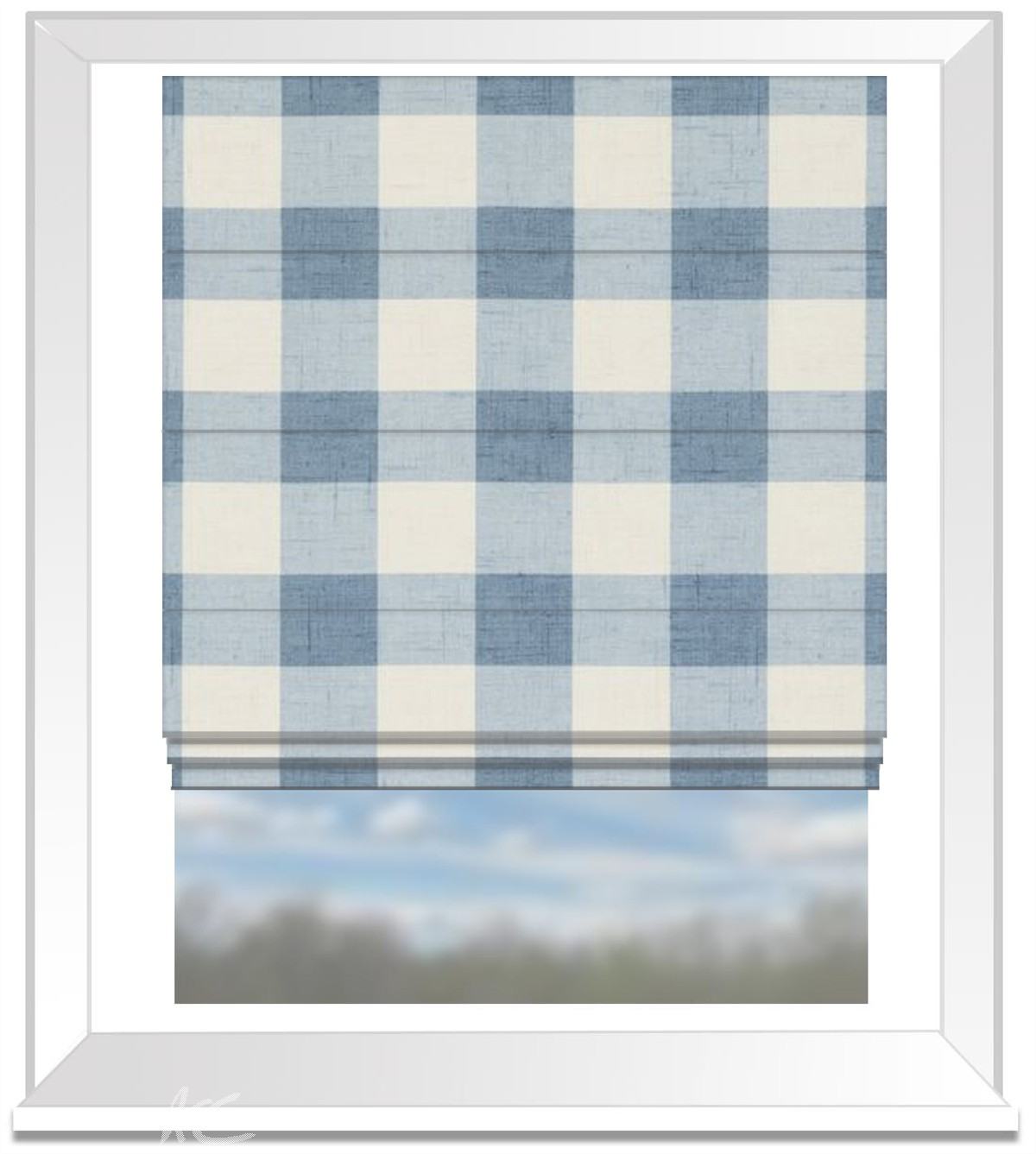 Clarke and Clarke Genevieve Polly Chambray Roman Blind