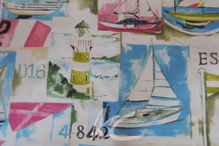 Westward Ho Yacht Club Vintage Made to Measure Curtains