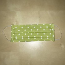 Face Mask Protection: Reusable Washable: Spotty Lime Cotton Size Medium