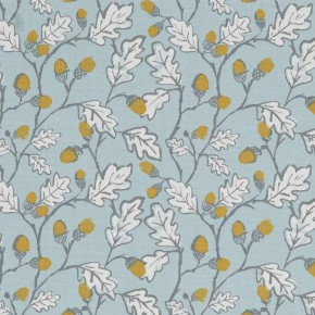 A Land and Sea Acorn Trail Duckegg Curtain Fabric