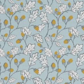 A Land & Sea Acorn Trail Duckegg Curtain Fabric