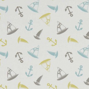 A Land and Sea Ahoy  Mineral Curtain Fabric