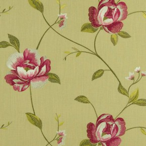 Tatton Linens Alderley Parsley Curtain Fabric