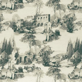 Clarke and Clarke  Colony Anastacia Charcoal Curtain Fabric