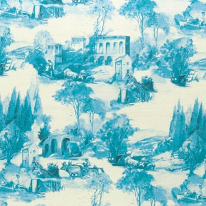 Clarke and Clarke  Colony Anastacia Delft Curtain Fabric