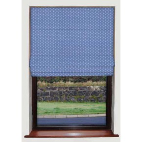Anchors Blue Roman Blind