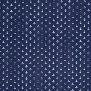 Clarke and Clarke Storybook Anchors Navy Curtain Fabric