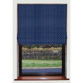 Anchors Navy Roman Blind