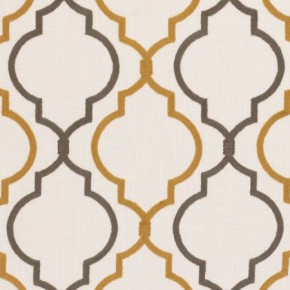 Clarke and Clarke Kashmir Anita Ochre Curtain Fabric