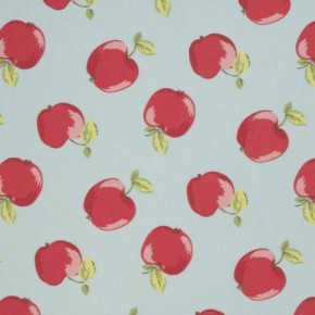 Clarke and Clarke Vintage Classics Apples Seafoam Made to Measure Curtains