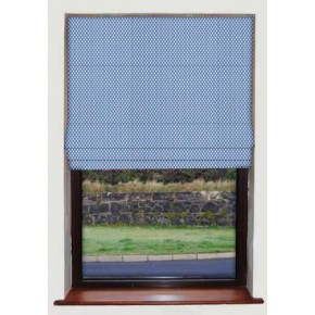 April Showers Blue Roman Blind