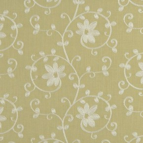 Tatton Linens Ashley Parsley Curtain Fabric
