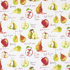 Country Fair Autumn Fruit Watercolour Curtain Fabric
