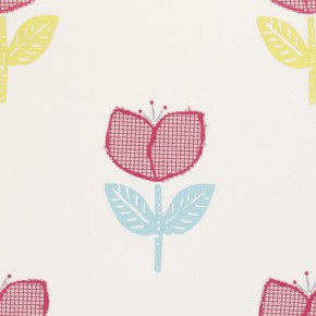 Clarke and Clarke Storybook Ava Pink Curtain Fabric
