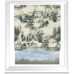 Clarke and Clarke Colony Anastacia Charcoal Roman Blind