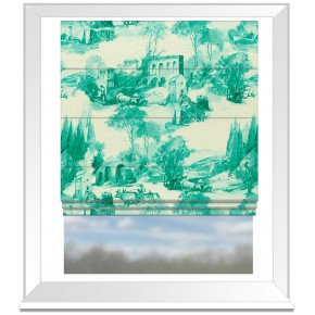 Clarke and Clarke Colony Anastacia Teal Roman Blind