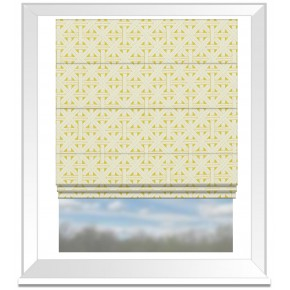 Clarke and Clarke Colony Cabana Citron Roman Blind