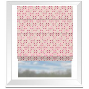 Clarke and Clarke Colony Cabana Fuchsia Roman Blind