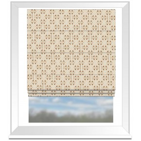 Clarke and Clarke Colony Cabana Harvest Roman Blind