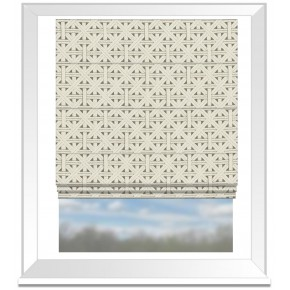 Clarke and Clarke Colony Cabana Taupe Roman Blind