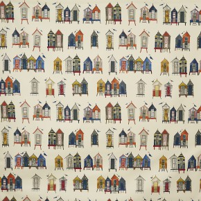 A Prestigious Textiles Beachcomber Beach Hut Antique Curtain Fabric