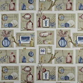 A Prestigious Textiles Coast Beachcomber Antique Made to Measure Curtains