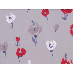 Springfield Beau Navy-Red Curtain Fabric