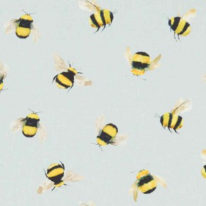 A Village Life  Bees  Duckegg Curtain Fabric