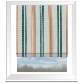 Clarke and Clarke Colony Grenada Teal/Spice Roman Blind