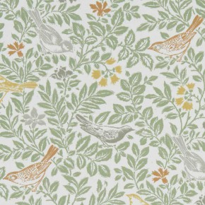A Land and Sea Bird Song Autumn Curtain Fabric