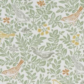 A Land & Sea Bird Song Autumn Curtain Fabric