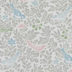A Land & Sea Bird Song Pastel Curtain Fabric