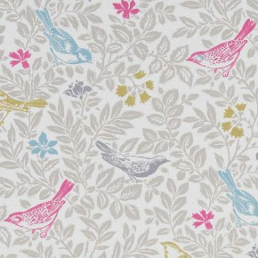 A Land and Sea Bird Song Summer Curtain Fabric