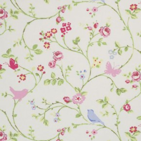 Clarke and Clarke Vintage Classics Bird Trail Chintz Cushion Covers