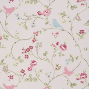 Clarke and Clarke Vintage Classics Bird Trail Rose Cushion Covers