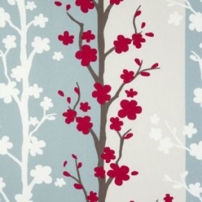 Clarke and Clarke Scandia Blomma Rouge Curtain Fabric