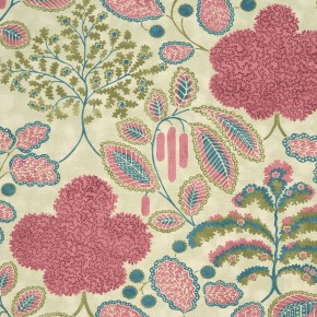 Bloomsbury Bloomsbury berry-teal Curtain Fabric