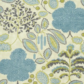 Clarke and Clarke Bloomsbury mineral-citron  Curtain Fabric