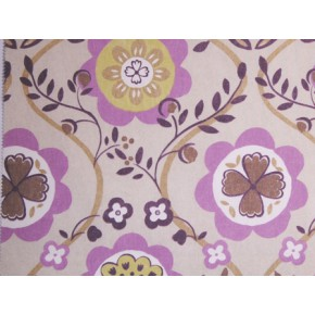 Linden Bloomsbury Mulberry Curtain Fabric
