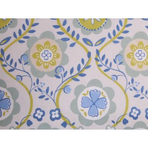 Linden Bloomsbury Vintage Blue Made to Measure Curtains