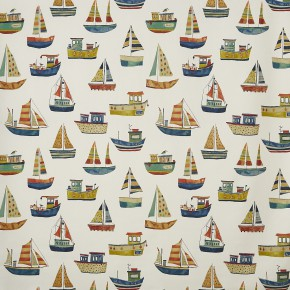 A Prestigious Textiles Beachcomber Boat Club Antique Curtain Fabric