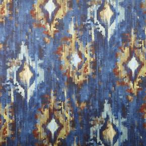 A Prestigious Textiles Decadence Bohemia Sapphire Curtain Fabric