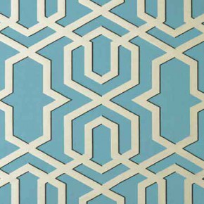 Clarke and Clarke Chateau Boulevard Aqua Curtain Fabric