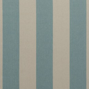 Clarke and Clarke Country Linens Broadway Aqua Curtain Fabric