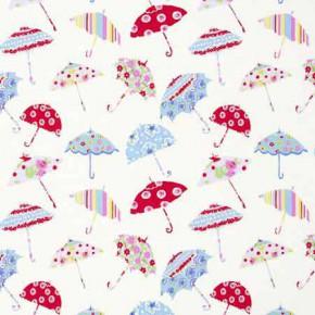 Clarke and Clarke Blighty Brollies Multi Curtain Fabric