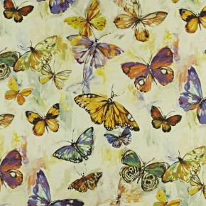 Mardi Gras ButterflyCloud PassionFruit Curtain Fabric